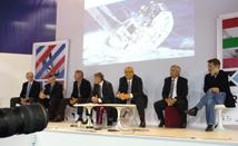 Conférence de presse 10ème transat Concarneau - St Barthélemy. Paris, décembre 2010.