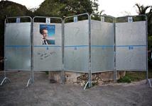 """Quartier de Grand-Fond (Saint-Barthélemy), 22 avril - Présidentielle 2012... """"Il est où le choix ?"""" - Photo Jn'B"""