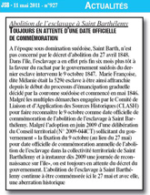 Article du Journal de Saint-Barth