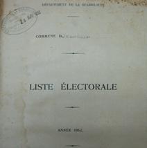 Liste électorale de Saint-Barthélemy, 1950