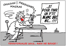 Elections St Barth 2012 - sur un dessin original de Jocelyn Josso